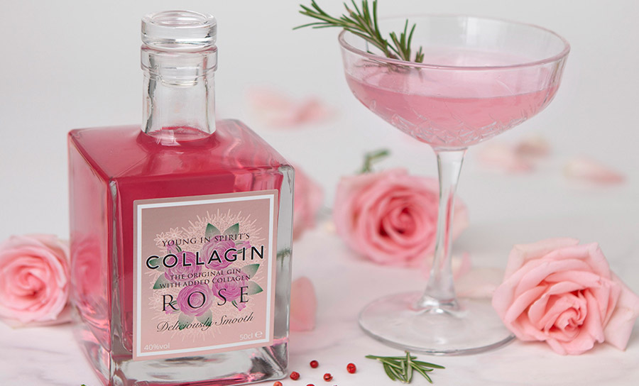 Gin, beauty and roses... Collagin covers all bases this Valentines